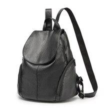 2017 г. женские рюкзаки Повседневная модная одежда для девочек школьная сумка женская мягкая натуральная кожа рюкзак Bolsas Mochila Feminina кисточкой Новый C262