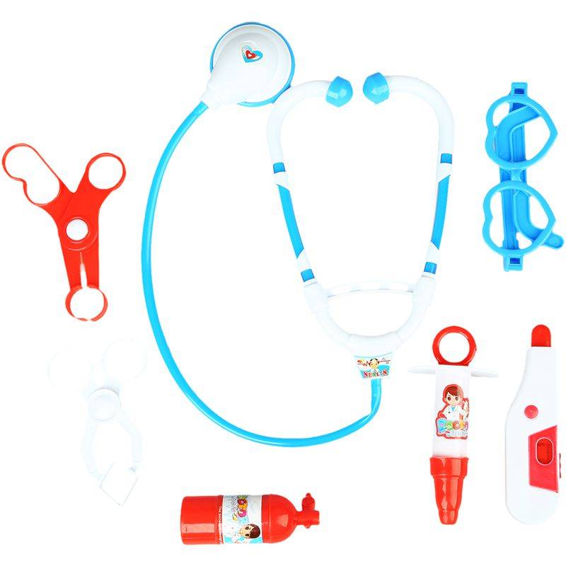 Kids Educational Pretend Doctor Nurse Role Play Medical Kit Roleplay Toy Set Blue