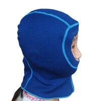 100% мериносовая шерсть для маленьких детей тепловой Балаклава Лицо в масках Hat Cap ветрозащитный для От 1 до 10 лет