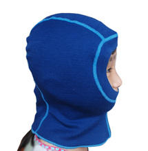 100% Merino wool baby kids thermal balaclava face masked hat windproof cap for 1-10 years old