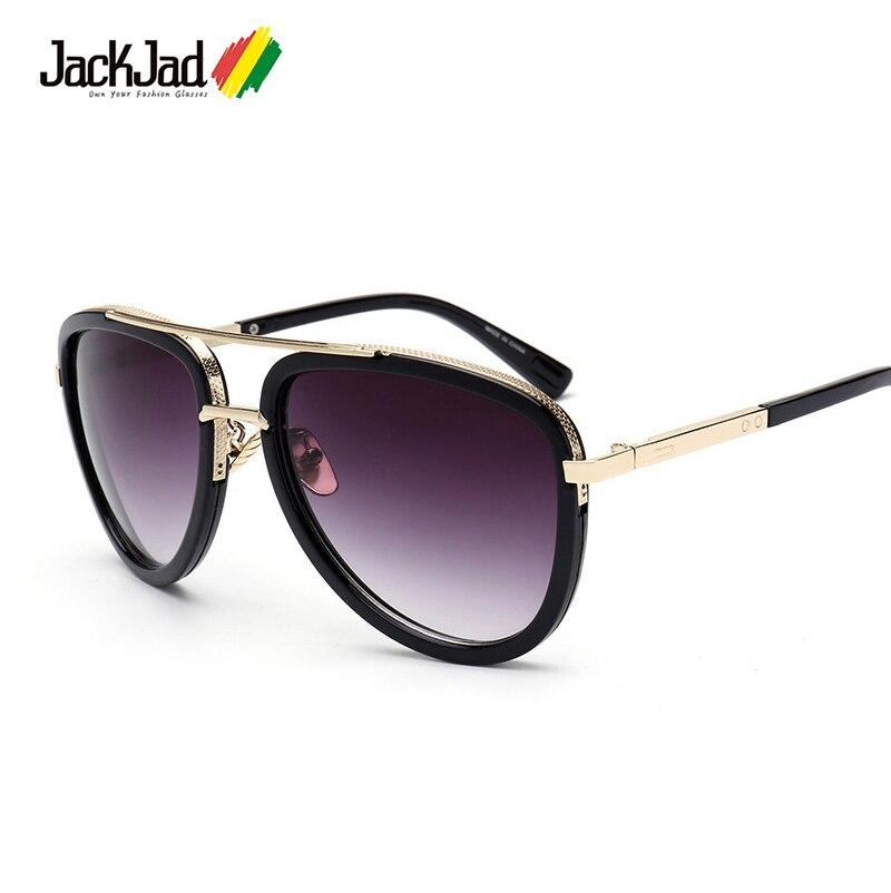 JackJad 2017 New Fashion Mach Two Half Metal Frame Aviator Style Sunglasses Vintage Men Brand Design Sun Glasses Oculos De Sol