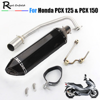PCX 125 150 Motorcycle Scooter Exhaust Muffler Full System Middle Pipe Slip On Escape Fit For HONDA PCX125 PCX150 2014 2017