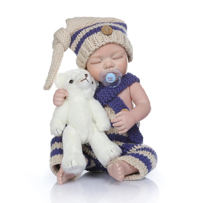 49cm infant reborn silicone Dolls vinyl newborn reborn babydoll toddlers sleeping doll boy toddler Kids birthday Gift Can Bathe49cm infant reborn silicone Dolls vinyl newborn reborn babydoll toddlers sleeping doll boy toddler Kids birthday Gift Can Bathe