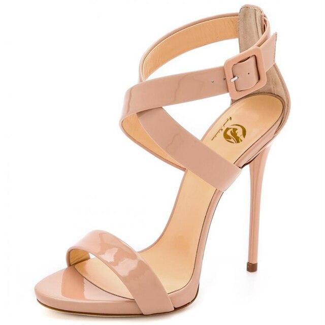 59ea2cc16 La intención Original de sandalias de las mujeres 2017 elegante abierto del  dedo del pie delgada