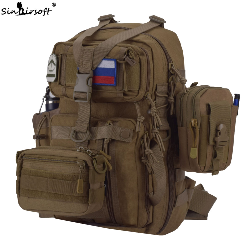 SINAIRSOFT Outdoor Sport 25L Men Shoulder Bags Travel Solid New Crossbody for Waterproof coating Fabric 14 inches laptop PK150 ...