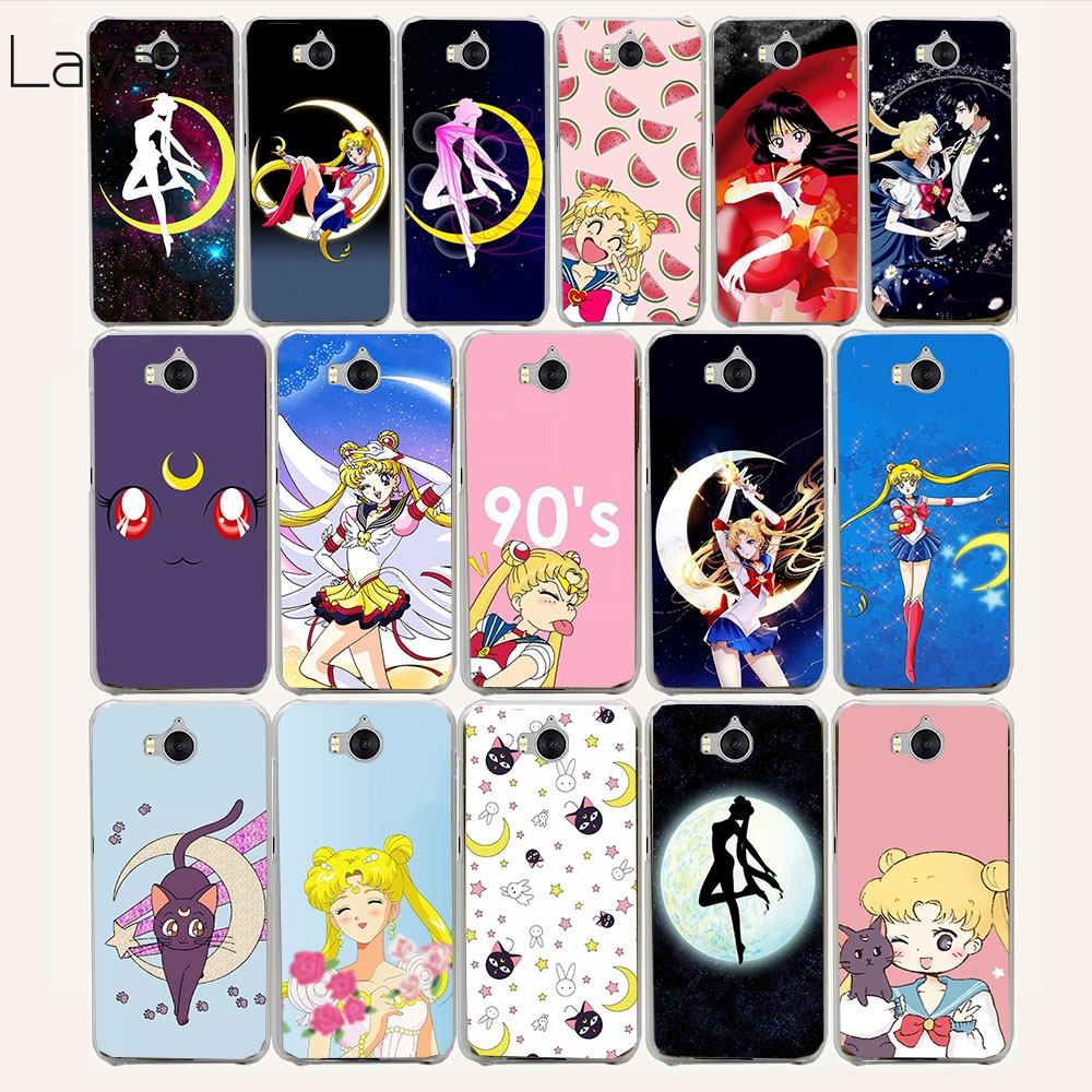Galleria fotografica Lavaza 11af Cute girl Sailor Moon Anime Hard Case for Huawei Y6 Y5 Y3 2017 G7 <font><b>Honor</b></font> <font><b>9</b></font> 8 Lite 6 6a 7 7x 4C 4x