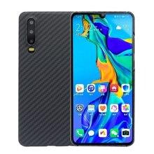 יוקרה סיבי פחמן מקרה עבור Huawei P30 מקרי מט ארמיד סיבי 0.7 MM Ultra Thin מט טלפון כיסוי עבור Huawei p30 פרו מקרה