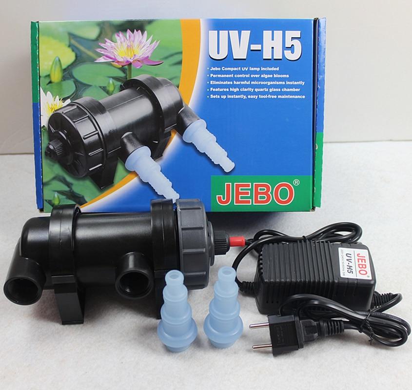 Jebo 5w uv sterilizer lamp for aquarium pond fish tank for Uv pond cleaner