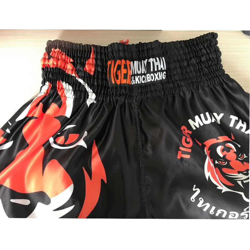Suotf MMA Tiger Muay Thai Tinju Pertandingan Tinju Sanda Latihan Bernapas Celana Pendek Muay Thai Pakaian Kickboxing Celana