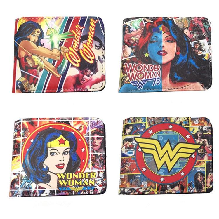 New Arrival Wonder Woman Wallet Superwomen Wallet Super Hero Purse Anime Wallet Unisex Fashion Purse dc wonder woman wallet suicide squad purse super hero fashion cartoon wallets personalized anime purses for teens girl student