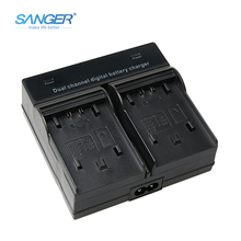цена на SANGER Dual Channel Quick Digital Battery Charger for Sony NP-FV50 FV70 FV100 FP50 FP70 FP90 NP-FH70 NP-FH50 NP-FH100 NP-FV120