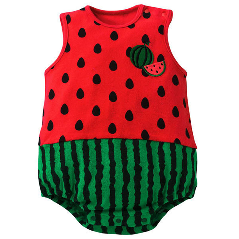 Fashion Baby Rompers Cartoon Jumpsuit Infant Toddler Rompers Cotton Sleeveless Cute Baby Outfits Clothes Boy Girl 2019 0 12M in Rompers from Mother Kids