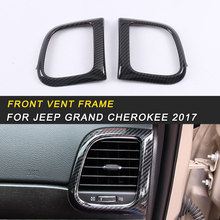 Front Vent Frame Trim Cover Interior Accessories for Jeep Grand Cherokee 2017 Auto Car-styling(China)