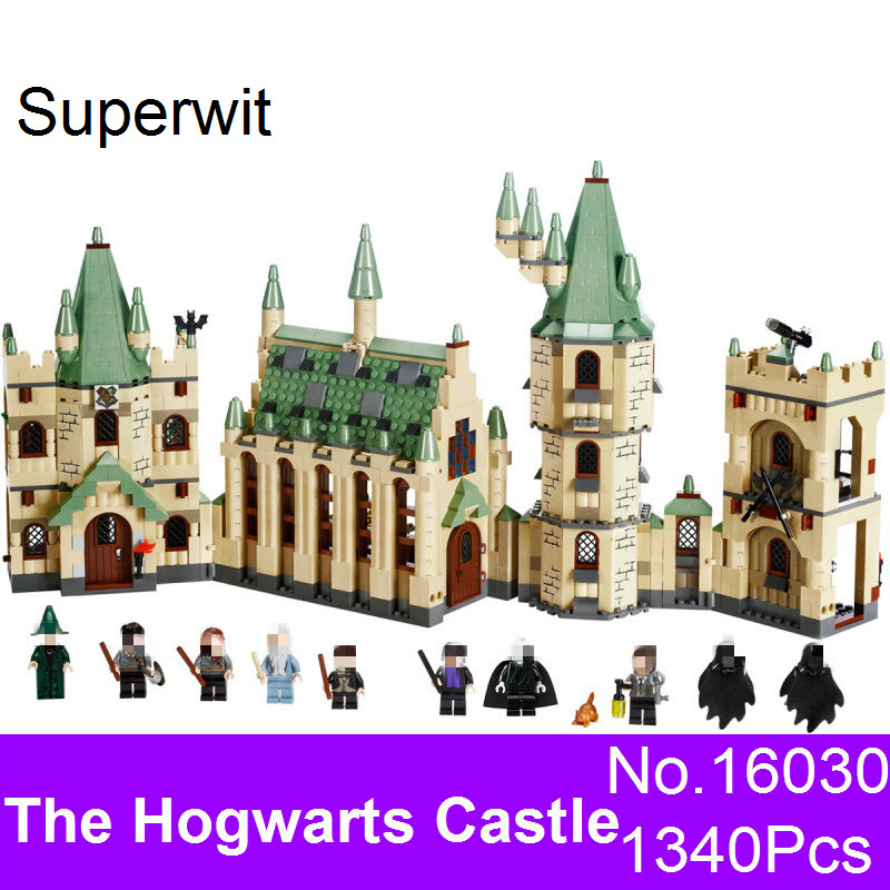 Superwit New Lepin 16030 1340Pcs Creative Movies Series The Hogwarts Castle Set Educational Kid Building Blocks