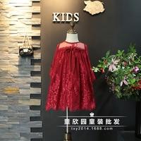 Girl Dress New Spring And Autumn New 2017 Big Child Lace Princess Dress Girls Children S