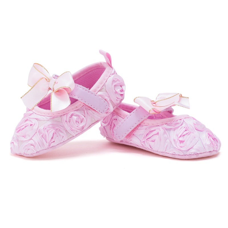 Baby Shoes Kids Girls Spring Vintage Fashion Lace RoseFlower Cute Bowknot Anti-skid Casual Baby Cack Shoes