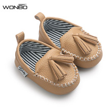 WONBO Baby PU Leather Shoes Infants Girl Boy Soft Sole Sneakers First Walker 0-18Month