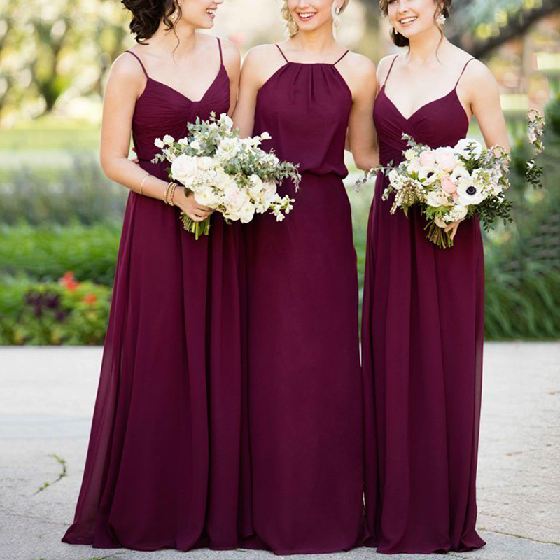 Trust LinDa Glamorous Spaghetti Straps   Bridesmaid     Dresses   Women's Bridal Party Wear   Dress   Custom Made Prom Gowns 2018 Plus Size