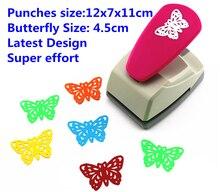 蝶パンチ最新デザインスーパー保存努力シェーパクラフトパンチスクラップブッキングパンチペーパークラフトパンチャー DIY toolsS8563