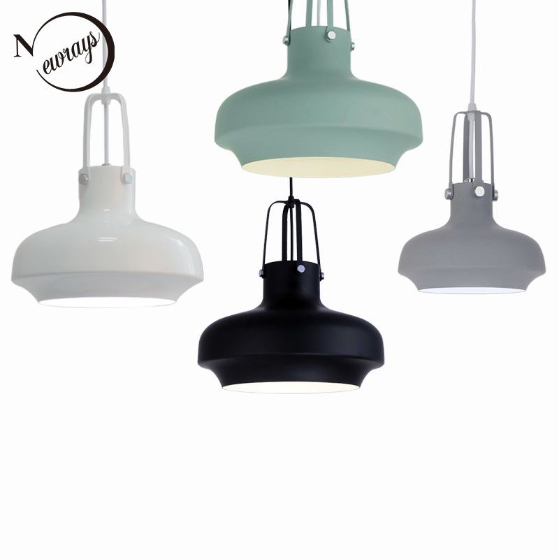 Loft Nordic Modern hanging aluminum Pendant Lamp Fixtures E27/E26 LED pendant Lights for Kitchen bedroom Cafe Bar living room