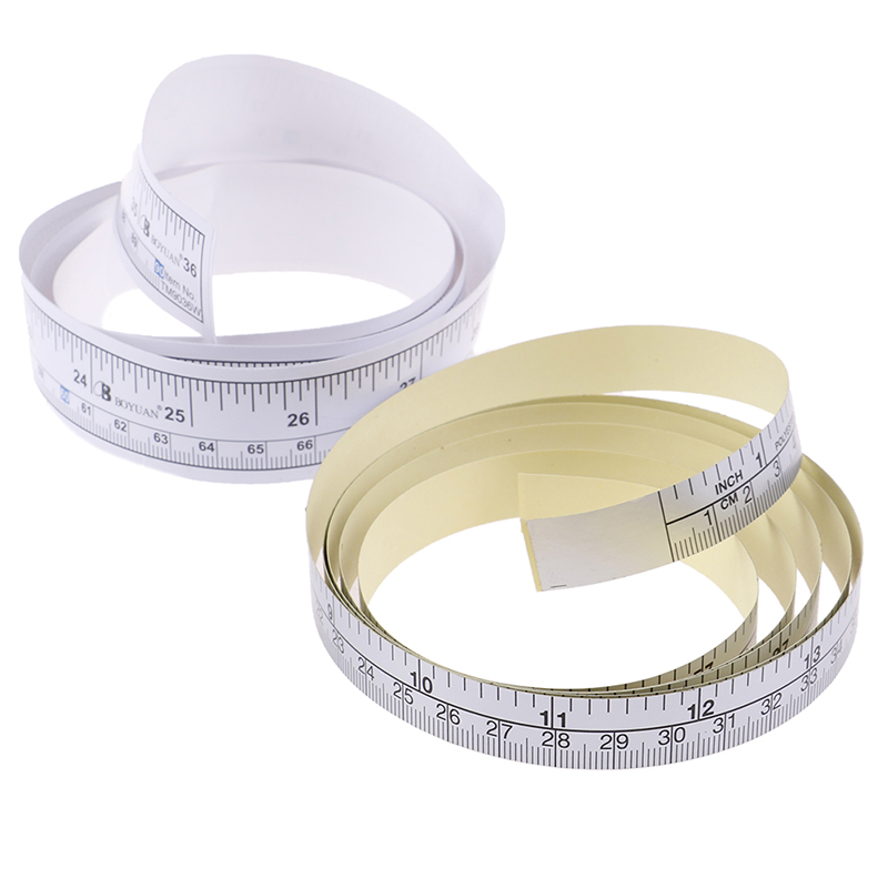 New 1PC 90/151cm Self Adhesive Metric Measure Tape Vinyl Ruler For Sewing Machine Sticker Adhesive Measure Tape Wholesale