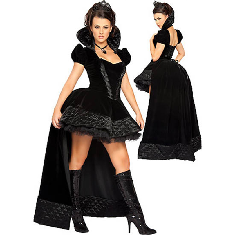 Code Division Tuxedo Dress Uniforms Queen Black Queen Witch Costume Vampire Devil Halloween Costume DS Costumes Party Dress New