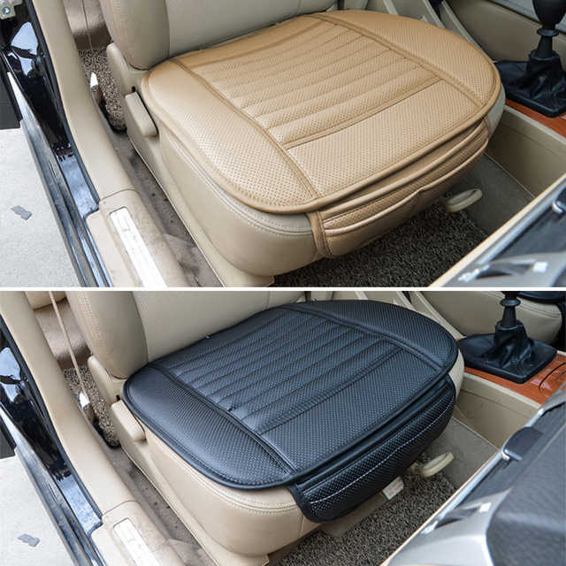 Araba koltuğu kapakları otomobil koltuk minderi Anti kayma araba iç aksesuarları dört mevsim PU deri koltuk koruma dekorasyon