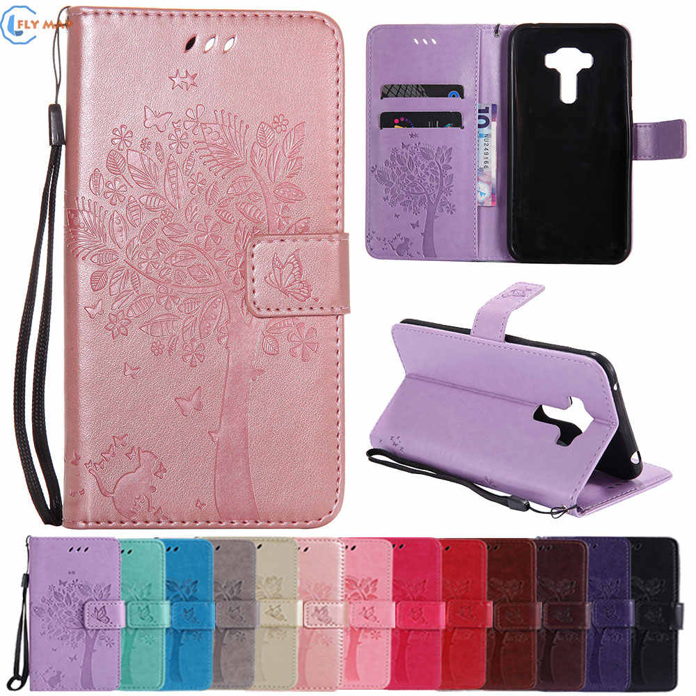 0833ce87e77e Coque For ASUS ZenFone 4 Selfie Pro ZD552KL Z01MD Z01MDA Wallet Flip Phone  Leather Case Cover