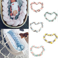 2M Knot Design Baby Bumper Bed Infant Plush Crib Pad Protection Cot Bumper Baby Kids Bedroom Decor Bedding Accessories For Baby