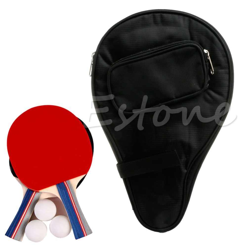 High Quality Table Tennis Racket Pouch  Pong Bat Cover with Bag for Ball