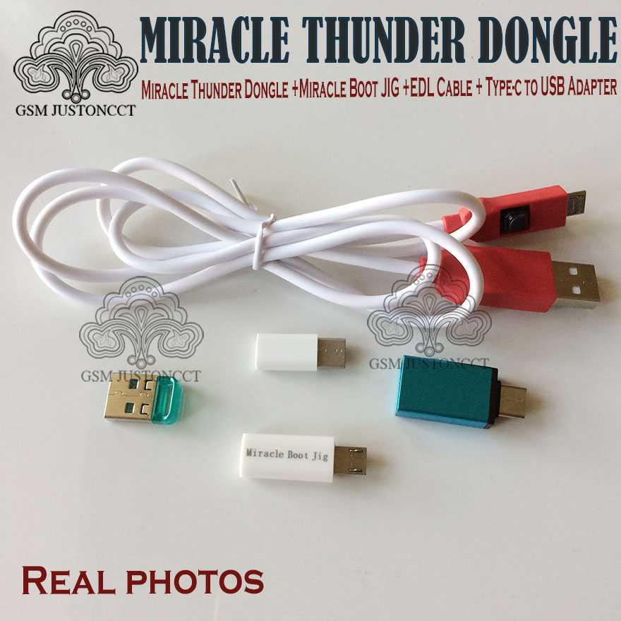 2019 Newest Original Miracle Thunder Dongle + Miracle Boot JIG +EDL Cable + Type-c to USB Adapter no need miracle box and key2019 Newest Original Miracle Thunder Dongle + Miracle Boot JIG +EDL Cable + Type-c to USB Adapter no need miracle box and key