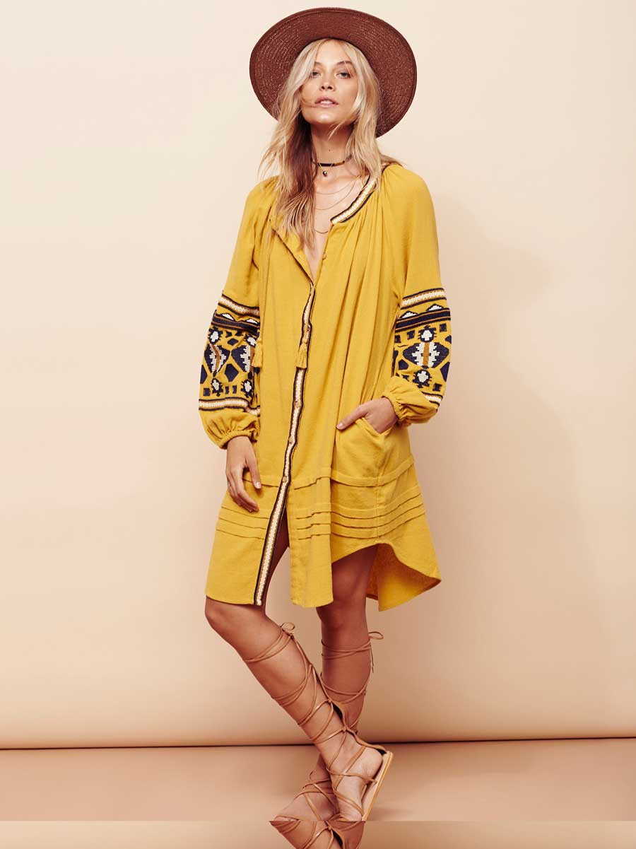 4c193724353d BOHO INSPIRED dress female floral embroidery long sleeve Cotton autumn dress  boho chic women bohemian dress brand clothing 2017-in Dresses from Women's  ...