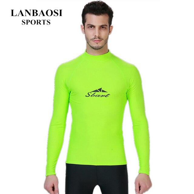 Costume Da Bagno Uomo New Apple Green UPF50+ Rashguard Long Sleeve ...