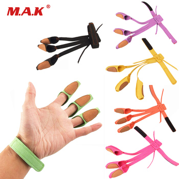 7 Color 3 Finger Archery Protect Hunting Glove Pull Bow Arrow for Shooting Practice Microfiber High Quality Material