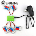New Arrival 5X Eachine 3.7V 600mah 25C Lipo Battery With Charger For QX90 QX95 QX80 QX100 EX100 EX105 EX110 X73
