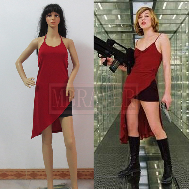 Resident Evil 4 Alice Cosplay Movie Costume Alice Dress Free Shipping