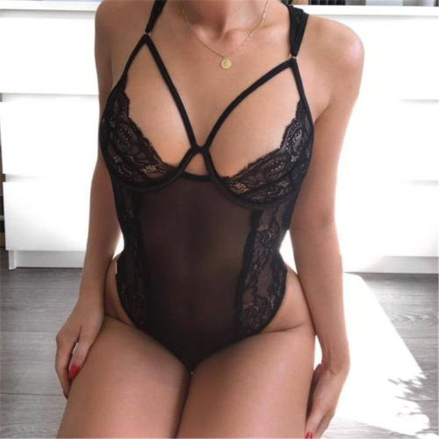 8266f486576 Fashion Women Sissy Sexy Lingerie Lace Solid Slim Babydoll G String Thong  Nightwear Underwear S-XXL Women Clothes
