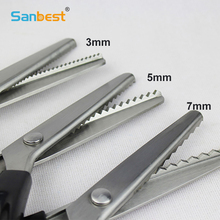Professional Dressmaking Pinking Shears Scissors 3 5 7mm Fabric Decorative Triangle Edge Sewing Scissors Paper Craft Zig Zag 5pack professional dressmaking pinking shears crafts zig zag cut scissors