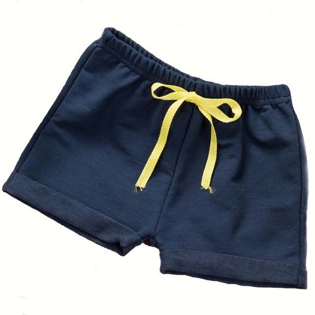 Kids Summer 2019 New Cotton Beach Shorts Toddler Pants For Boys Girls 1-5 Years Children's Clothes Red Black Yellow Navy Blue