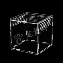 30*20*15cm Reptile Box Assembled Reptile Terrarium Durable Transparent Acrylic Cold Blooded Animals Box Pets Insect Supplies C22