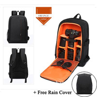 Waterproof DSLR Backpack Camera Video Bag w/ Rain Cover SLR Tripod for Sony A7SI A7SII ILCE 9 ILCE 6000 ILCE 7R ILCE 7 ILCE 7S