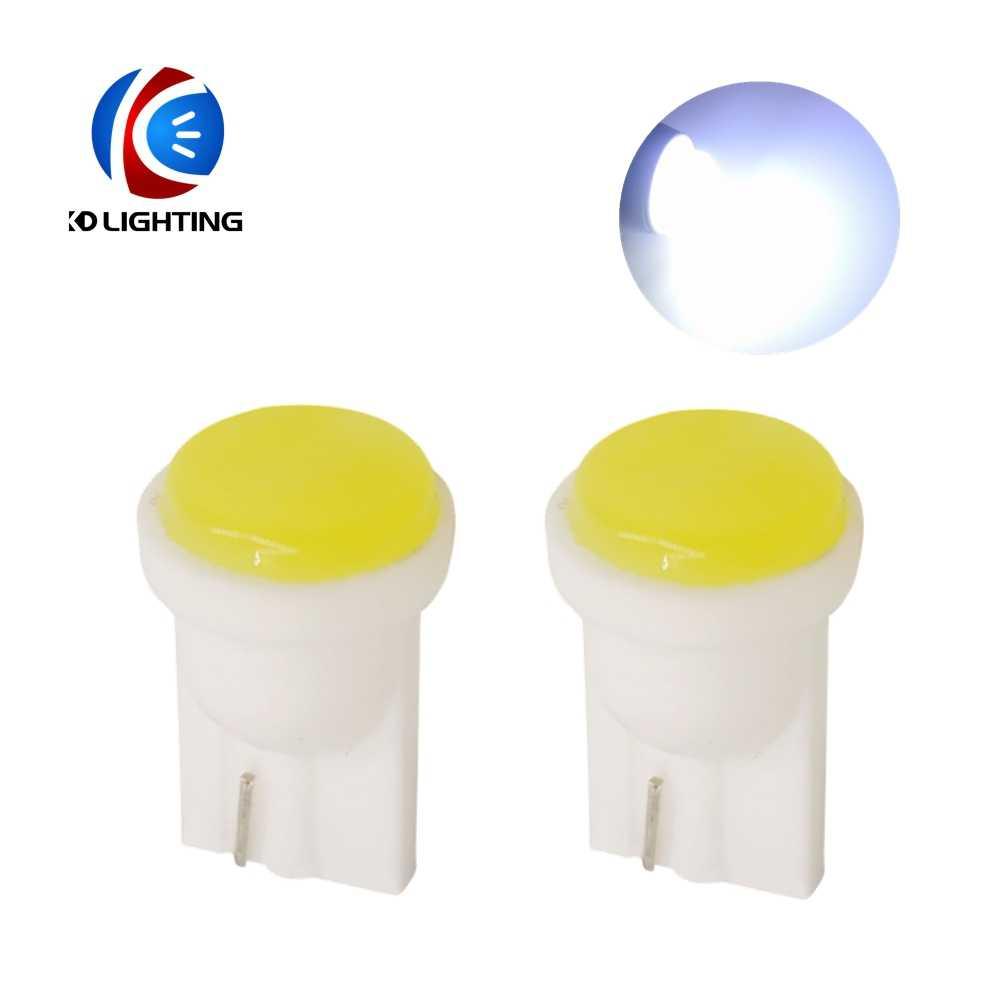 KD 1 шт. T10 COB 1 Вт клиновидные инструменты для дверцы боковые лампы автомобильная лампа белый синий зеленый красный желтый 12 В автомобильные аксессуары