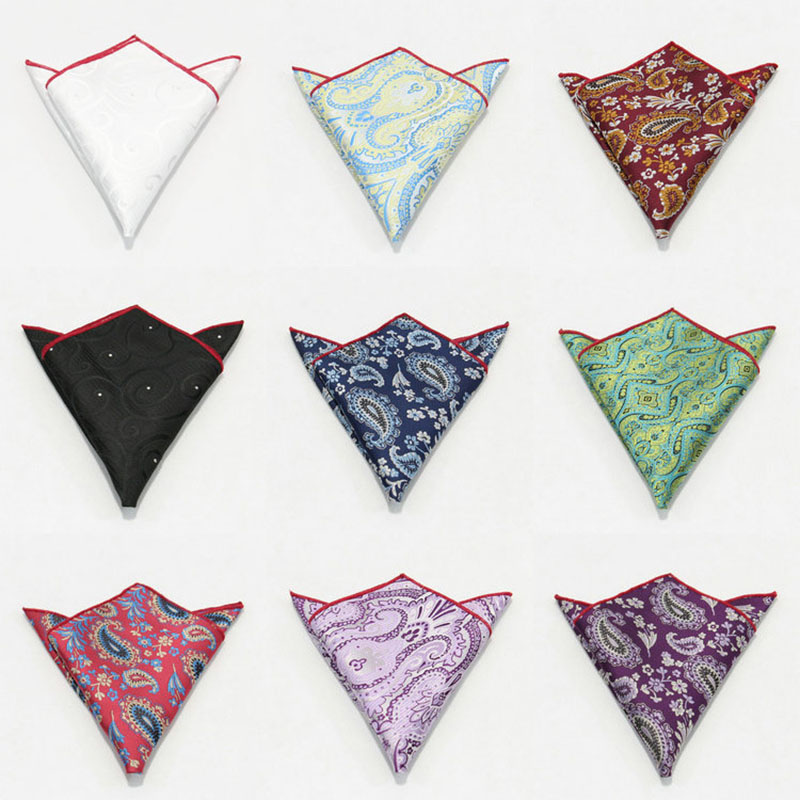British Vintage Cashew Kerchief Men's Suit Pocket Kerchief Jacquard Korean Version Dress Chest Kerchief
