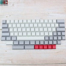 цены IDOBAO Blank 61 64 68 ANSI dsa keycaps  Profile Thick PBT Keycap For Cherry MX Mechanical Keyboard GH60 XD64 GK64 Tada68