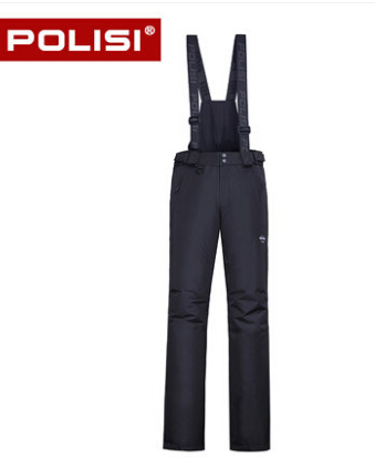 где купить POLISI Professional Men's Windproof Waterproof Ski Bib Pants Breathable Winter Outdoor Sport Snow Skiing Snowboarding Trousers дешево