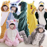 Hot Children Unisex Unicorn Dinosaur Onesie Kids Girls Boys Warm Soft Cosplay Animal Pajamas Home Sleepwear