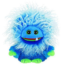 "Pyoopeo Ty Frizzys 10"" 25cm Fang the Blue Monster Plush Medium Stuffed Halloween Monster Collection Soft Doll Toy with Heart Tag(China)"