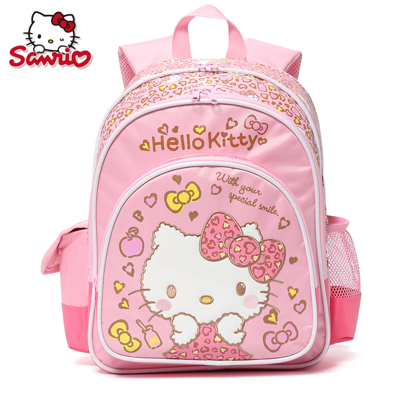 b587c895d2 Genuine Leather Hello Kitty Cute Lady Style Backpack Girl School Lovely  Shoulder Book Bag New Fashion Backpacks Outdoor Luggage
