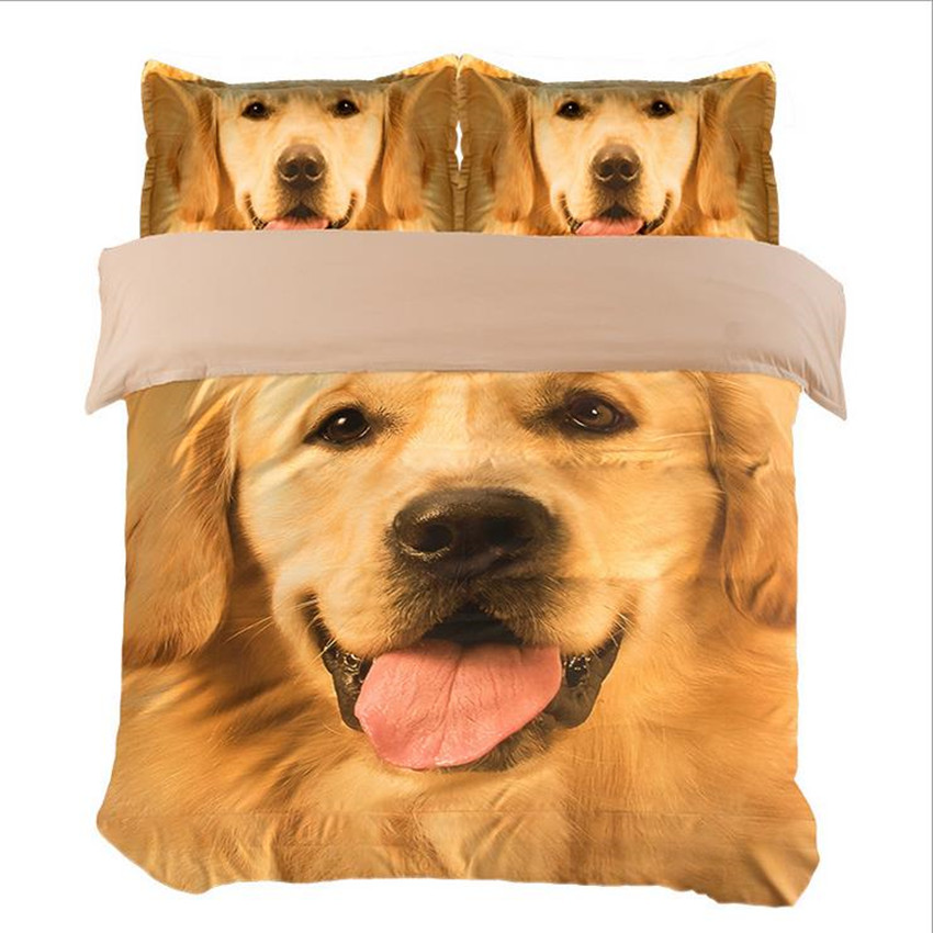 XINLANISNOW 3d Bedding Sets Pet Dog Printed Bed Set Bedclothes Bed Linen Bed Sheet Duvet Cover Set Twin Queen King Size 3/4pcs