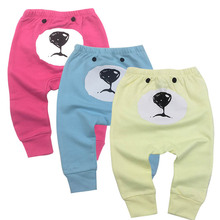 Купить с кэшбэком Newborn Baby Boys Girls Baby Girls Pants Unisex Casual Bottom Harem Pants PP Pants Fox Trousers 6M-24M 3piece/lot